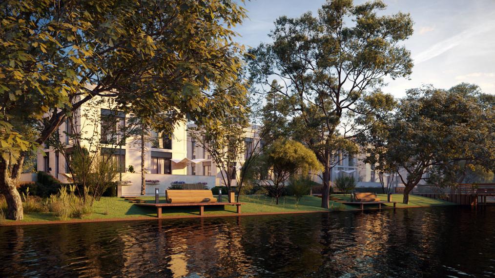 Резиденция с участком на берегу Москвы-реки